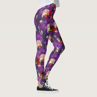 GORGEOUS PURPLE and RED GOOD LUCK Leggings