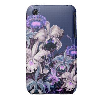 Gorgeous Purple Blue Vintage Flowers iPhone 3 Case-Mate Case