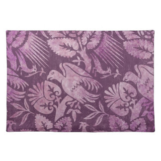 Gorgeous Purple Floral with Bird Placemat