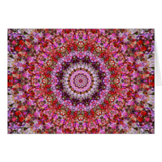 Gorgeous Red and Purple Floral Mandala Card