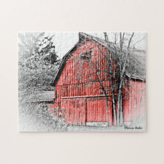 Gorgeous Red Barn Jigsaw Puzzle
