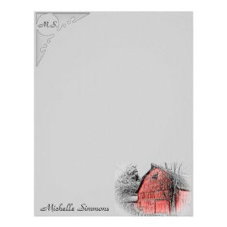 Gorgeous Red Barn Letterhead