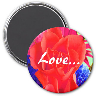 Gorgeous Red Red Rose I Refrigerator Magnet