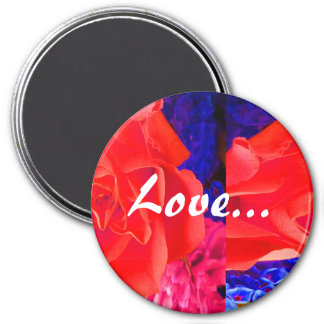 Gorgeous Red Red Rose III Magnet