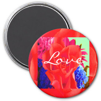 Gorgeous Red Red Rose Refrigerator Magnets