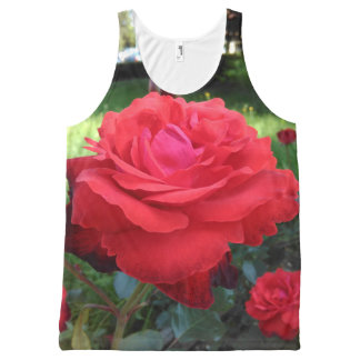 Gorgeous Red Roses All-Over-Print Tank Top