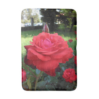 Gorgeous Red Roses Bath Mat