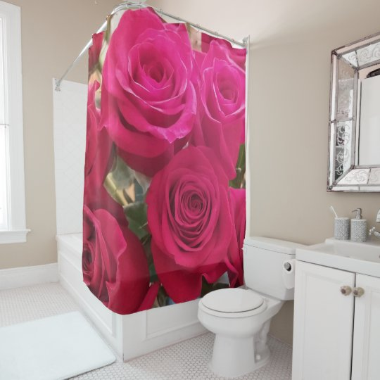Gorgeous Red Roses Shower Curtain
