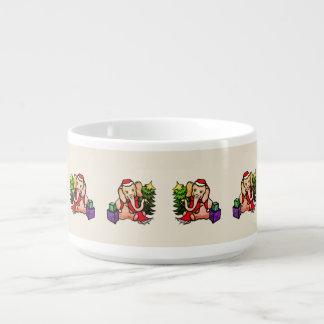 Gorgeous Retro Style Santa Elephants Bowl