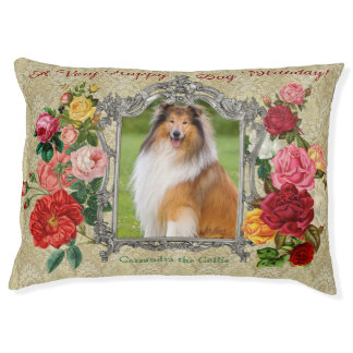 Gorgeous Roses Fancy Damask Baroque Photo Frame Pet Bed