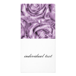 Gorgeous Roses,soft lilac Custom Photo Card