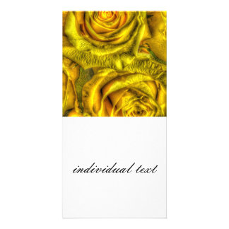 Gorgeous Roses, yellow Photo Card
