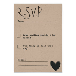 Gorgeous Rustic Dream R.S.V.P note customisable Card