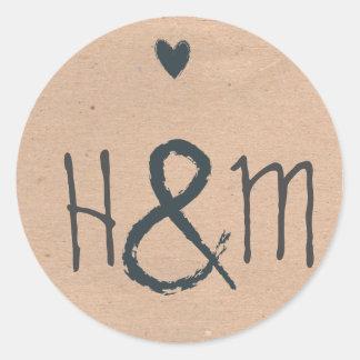 Gorgeous Rustic Dream Wedding Labels Round Sticker