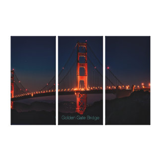 Gorgeous San Francisco Golden Gate Bridge at Night Canvas Print