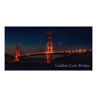 Gorgeous San Francisco Golden Gate Bridge at Night Photo Print