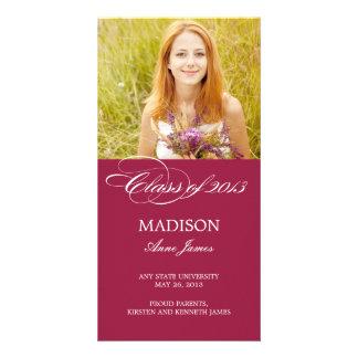 Gorgeous Script Graduation Announcement Photo Cards