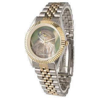 Gorgeous Sharp-Shinned Hawk Comes A-Callin' Wrist Watches