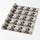 Gorgeous Siamese Cat Face Wrapping Paper