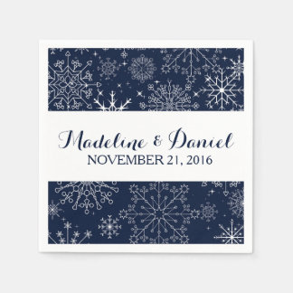 Gorgeous Snowflakes Wedding Napkins Paper Napkin