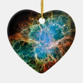 Gorgeous Space Photo of the Crab Nebula Ceramic Heart Ornament