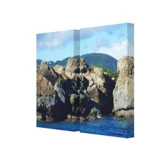 Gorgeous St. Thomas Caribbean Landscape Cove Canvas Print