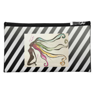Gorgeous sueded makeup/cosmetic bag