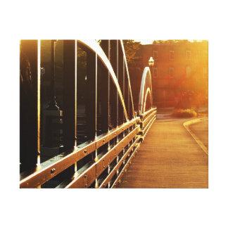 Gorgeous Sunrise on main street bridge Niles, Mich Canvas Print