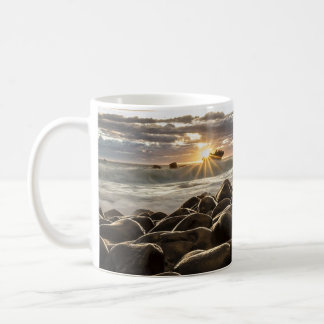 Gorgeous Sunset of the Ocean & Rocky Shore Mug