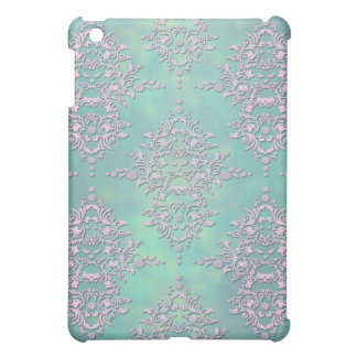 Gorgeous Teal and Lavender Pastel Damask iPad Mini Covers