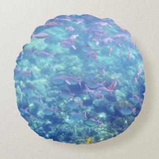 Gorgeous Tropical Fish Round Pillow