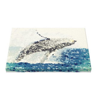 Gorgeous Turn!  Humpback Whale Flying to The Sky! Canvas Print