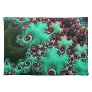 Gorgeous Turquoise Fractal Placemat