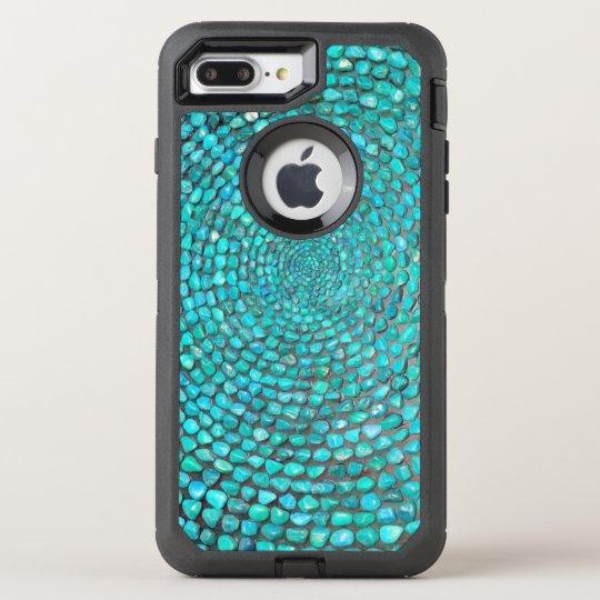 Gorgeous Turquoise Stones OtterBox Defender iPhone 8 Plus/7 Plus Case