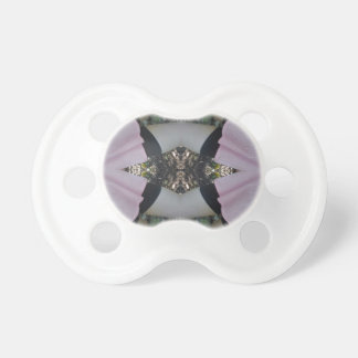 Gorgeous uncommon Lavender Black Pattern Baby Pacifier