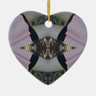 Gorgeous uncommon Lavender Black Pattern Ceramic Ornament