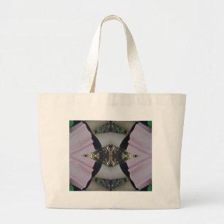 Gorgeous uncommon Lavender Black Pattern Large Tote Bag