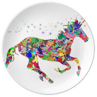 Gorgeous Unicorn plate