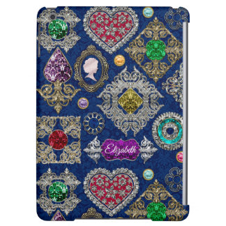 Gorgeous Victorian Jewelry Brooch Gemstone Collage iPad Air Cover