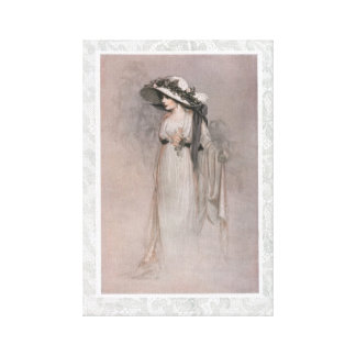 Gorgeous Victorian Woman in Hat Canvas Print