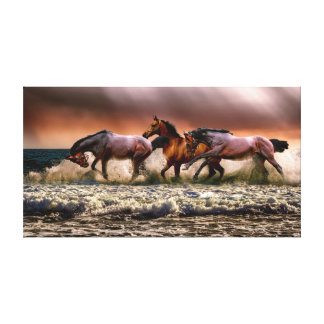 Gorgeous View of Horses Canvas Print