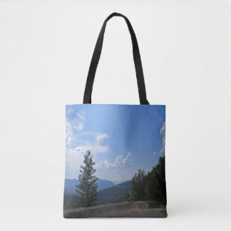 Gorgeous view of the Hayfork valley... Tote Bag