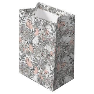 Gorgeous vintage flowers pastel colors romantic medium gift bag