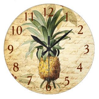 Gorgeous Vintage Pineapple Art Large Clock