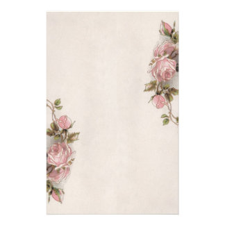 Gorgeous Vintage Pink Rose Stationery