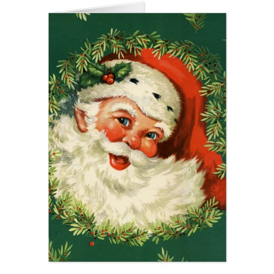 Gorgeous Vintage Santa Claus Image Card