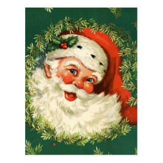 Gorgeous Vintage Santa Claus Image Postcard