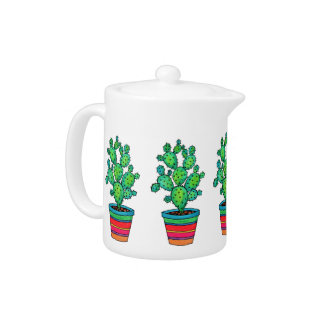 Gorgeous Watercolor Cactus In Beautiful Pot