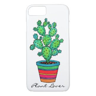 Gorgeous Watercolor Cactus In Beautiful Pot Case-Mate iPhone Case