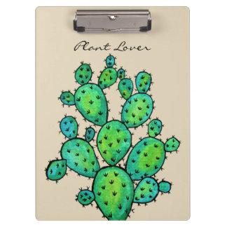 Gorgeous Watercolor Cactus In Beautiful Pot Clipboard